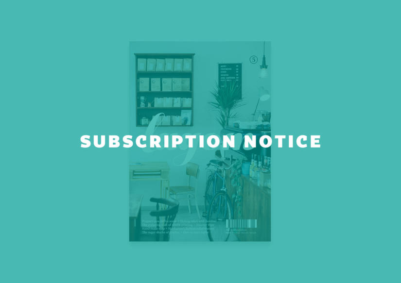 Subscription Notice